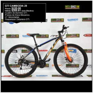 Bicicleta-guayaquil-mtb-montañera-talla-mega-bike-store-bike-shimano-gti-cambodia-aluminio-naranja-negro