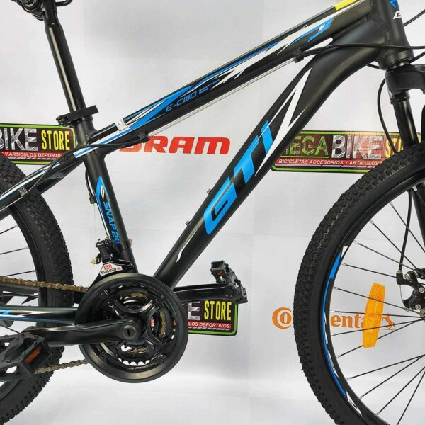Bicicleta-guayaquil-mtb-montañera-talla-mega-bike-store-bike-shimano-gti-snap24-aro24-aluminio-azul-negro