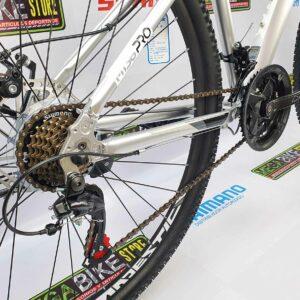Bicicleta-guayaquil-mtb-montañera-talla-mega-bike-store-bike-shimano-trink-m136-aluminio-gris-aro29