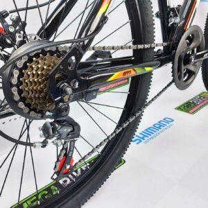 Bicicleta-guayaquil-mtb-montañera-talla-mega-bike-store-bike-shimano-gti-rocket-aro-26-acero-negro-naranja