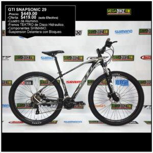 Bicicleta-guayaquil-mtb-montañera-talla-mega-bike-store-bike-shimano-gti-snapsonic-aro-29-aluminio-negro-gris