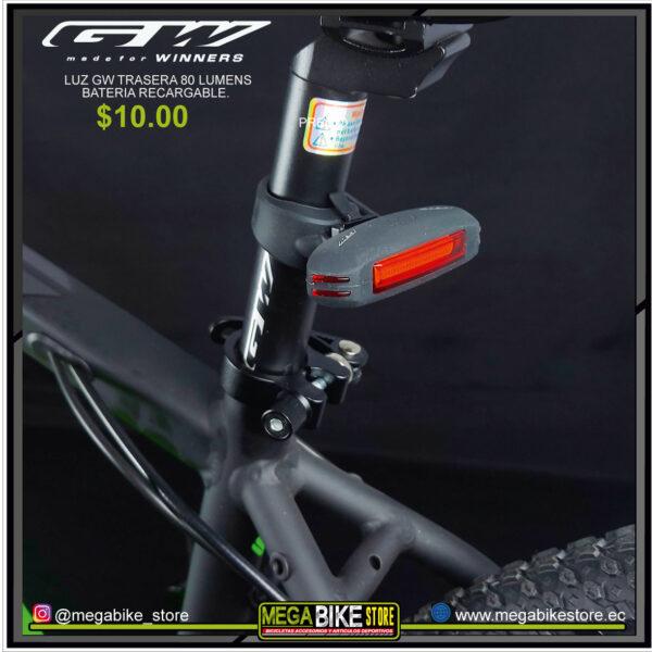 Bicicleta-guayaquil-mtb-montañera-talla-mega-bike-store-bike-shimano-gw-posterior-80-lumens-recargable.