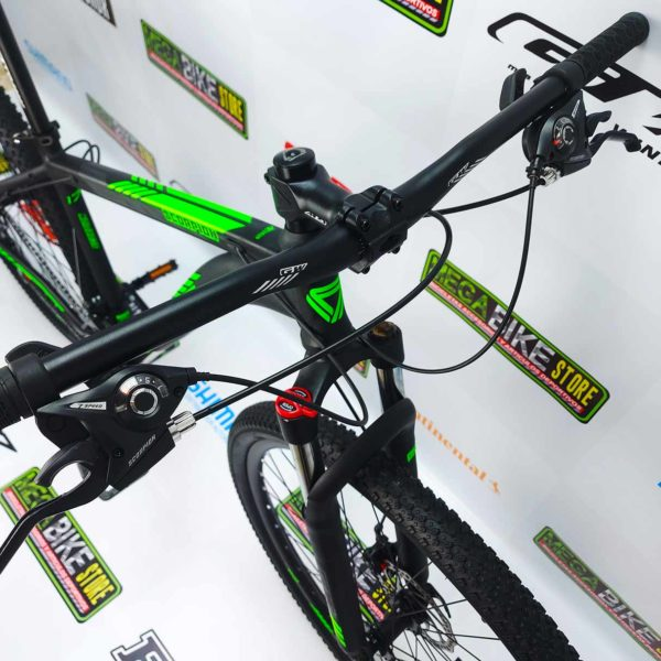 Bicicleta-guayaquil-mtb-montañera-talla-mega-bike-store-bike-shimano-gw-scorpion-aro-29-aluminio-negro-verde-
