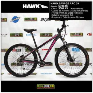 Bicicleta-guayaquil-mtb-montañera-talla-mega-bike-store-bike-shimano-hawk-savage-aro-29-aluminio-negro-rosado.