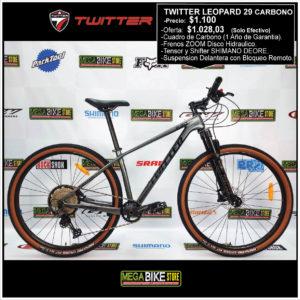 Bicicleta-guayaquil-mtb-montañera-talla-mega-bike-store-bike-shimano-twitter-leopard-aro-29-carbono-deore-gris.