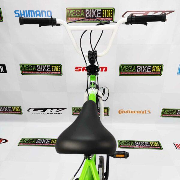 Bicicleta BMX Montañera KAWASAKI KRAFFITI ARO 20 (VERDE-BLANCO)