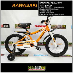 Bicicleta-guayaquil-mtb-montañera-talla-mega-bike-store-bike-shimano-kawasaki-kbx-aro-16-acero-blanco-naranja