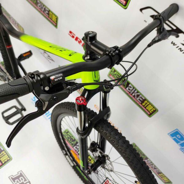 Bicicleta-guayaquil-mtb-montañera-talla-mega-bike-store-bike-shimano-kawasaki-lite-aro-29-aluminio-negro-verde