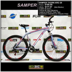 Bicicleta-guayaquil-mtb-montañera-talla-mega-bike-store-bike-shimano-samper-thorn-aro-29-acero-gris-rojo.