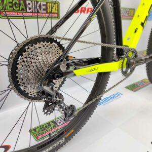 Bicicleta-guayaquil-mtb-montañera-talla-mega-bike-store-bike-shimano-benelli-ecuador-aro-29-carbono-amarillo