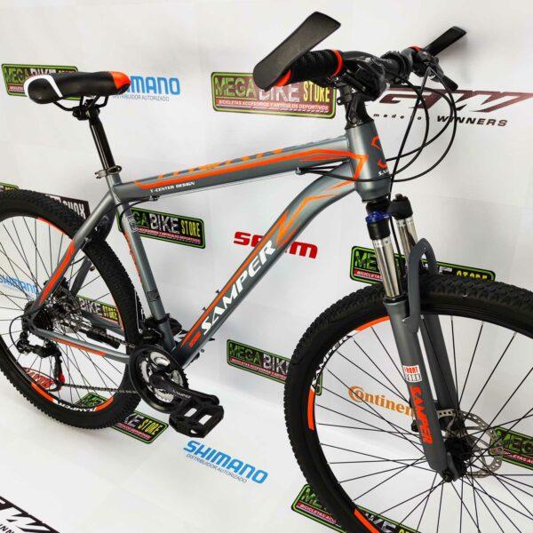 Bicicleta-guayaquil-mtb-montañera-talla-mega-bike-store-bike-shimano-bicicleta economica-samper-thorn-aro-29-acero-gris-naranja