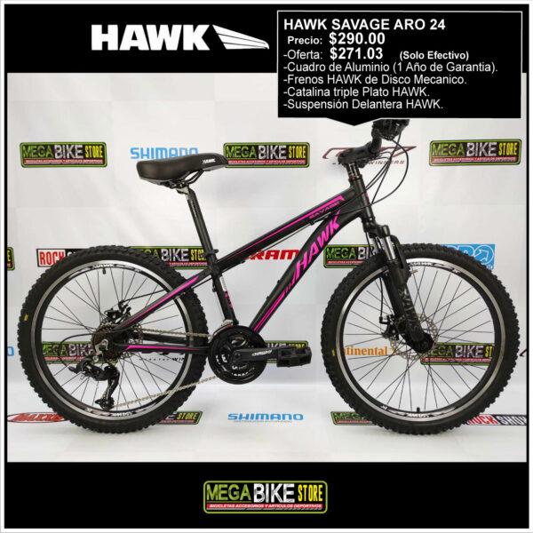 Bicicleta-guayaquil-mtb-montañera-talla-mega-bike-store-bike-shimano-hawk-savage-bicicleta-aro-24-aluminio-negro-rosado